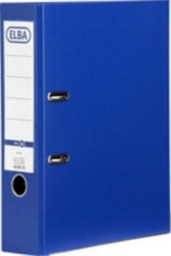 Elba archivadores de palanca PVC ranurado 70 mm lomo, color azul: Amazon.es: Oficina y papelería