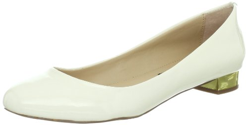 Steven By Steve Madden Womens Paigge Pump Bone Patent
