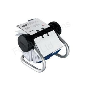 Classic Rolodex 200 Rotary Business Card Files Chrome EL67237