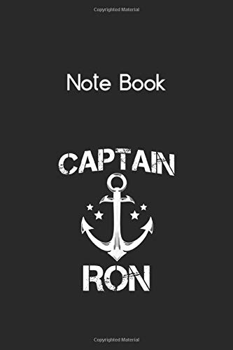 Notebook: Captain Ron Funny Birthday Personalized Name Boat ...