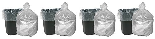 Webster WBIGNT2433 High Density Waste Can Liners, Resin, 16 gal, 0.24 mil Thickness, 32'' x 24'', Natural (Pack of 1000) (4-(Pack of 1000))
