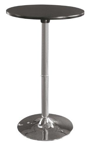 SixBros. Living Tavolo tavolino alto nero - M-80402-H/159 - Base in acciaio cromato - nero