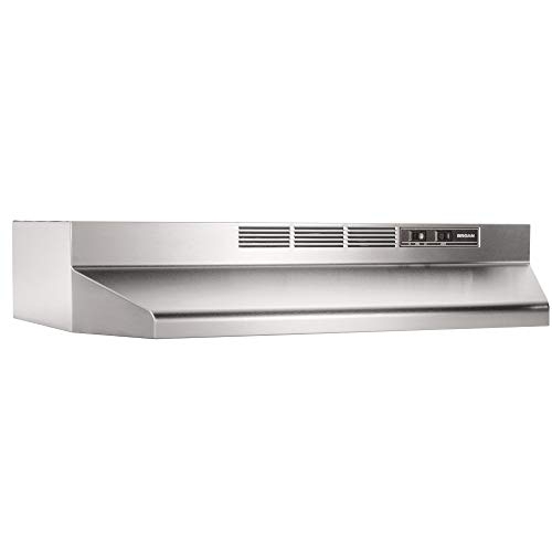 Broan-NuTone 413604 Non-Ducted Ductless Range Hood Insert with Light, Exhaust Fan for Under Cabinet, 36-Inch, Stainless…