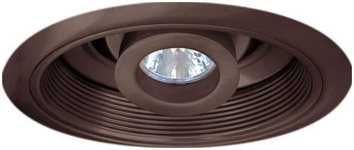 "Elco Lighting EL2510BZ 6/"" Low Voltage Baffle with Adjustable Spot"
