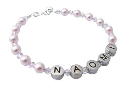 Bracelet Prénom Personnalisable Perles et Cristaux