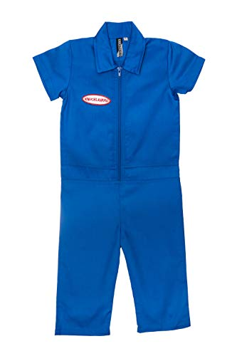Born to Love Knuckleheads Kids Coverall for Boys, Mechanic Halloween Jumpsuit - Costume Baby Outfit (10T, Blue Boy) (Jump Suit Kids)