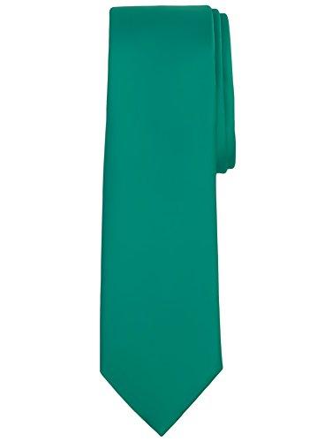 Jacob Alexander Men's Extra Long Solid Color Tie - Kelly