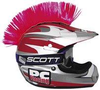 Helmet Mohawk Accessories - PC Racing Helmet Mohawk , Color: Pink PCHMPINK
