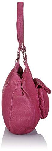 BACCINI Schultertasche LUISA - Umhängetasche - Damentasche - echt Leder navyblau-rot Alice