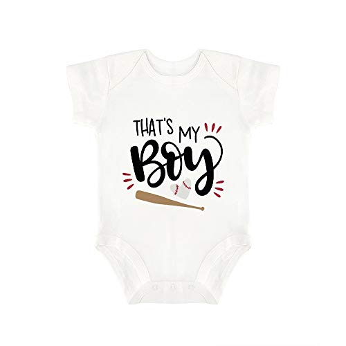 Promini Cute Baby Onesie Thats My Boy Baby Bodysuit Infant One Piece Baby Romper Best Gift for Baby White