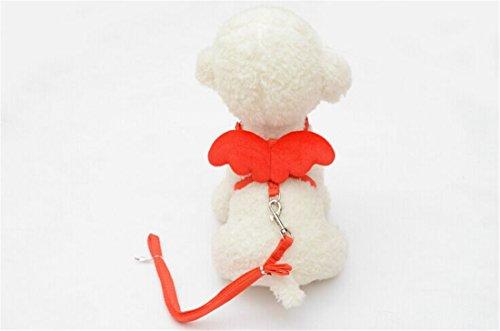 [Adjustable Pet Chain,Hemlock Angel Wing Puppy Dog Suit Collar Cloth (XS, Red)] (Diy Costumes Kids)