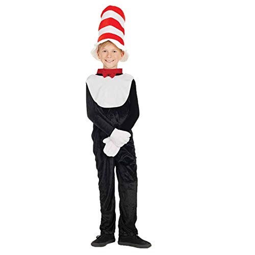 fun shack Kids Cat with A Hat Costume Childrens Story Book Character Outfit - X-Large ()
