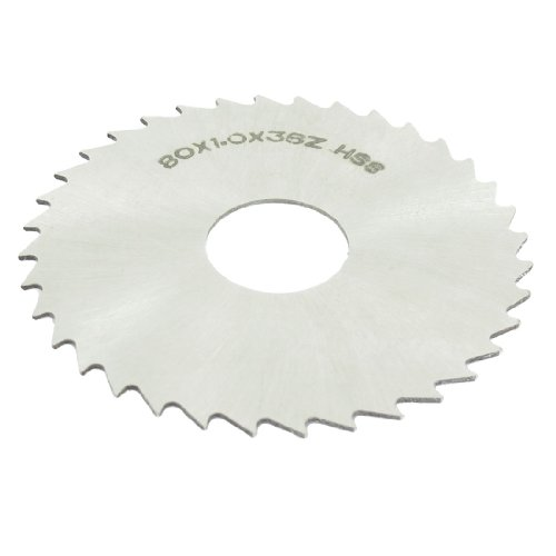uxcell HSS 80mm Dia 1mm Thickness 36 Teeth Circular Milling Cutter Saw