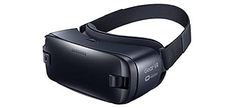 Samsung Gear VR - Dispositivos de visualización montados en Cascos (Smartphone-Based, Negro, Azul, Monótono, Micro-USB, USB Type-C, Botones, Tocar, ...