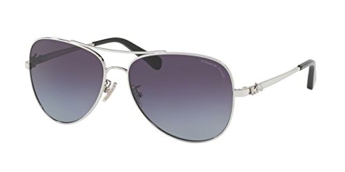 Coach Womens Sunglasses Silver/Purple Metal - Polarized - - Coach Sunglasses Purple