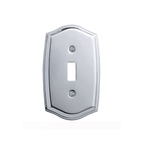 Baldwin Estate 4756.260.CD Colonial Design Single Toggle Wall Plate in Chrome, (Chrome Toggle Wall Plate)