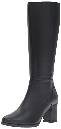 High Timberland Boots Knee - Timberland Women's Atlantic Heights WP Riding Boot, Jet Black Forty, 11 M US