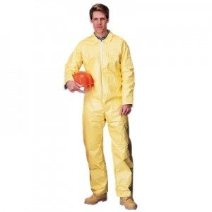 DuPont TM Tychem ® QC Chemical Protection Coveralls - 3X-Large Yellow - QC120SYL3X00