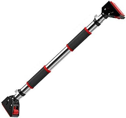 懸垂器具ステンレスネジ不要吊り下げバー自宅トレーニング器具 滑り止めフ懸垂棒 筋トレ (Size : 75-92cm)