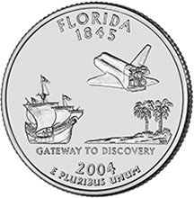 2004 P Florida State Quarter Choice Uncirculated