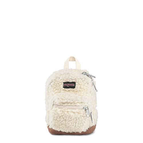 JanSport Right Pouch Miniature Backpack - Shrunken Down Tote For Accessories | Soft Tan Sherpa ()