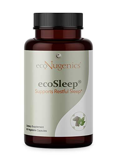 ecoNugenics – ecoSleep – 60 Capsules | Professionally Formulated to Support Healthy Circadian Rhythm & Deep, Restorative Sleep | Safe, Natural & Effective