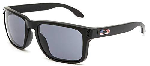 Oakley Men's Holbrook Square Sunglasses, Matte Black, 57 ()