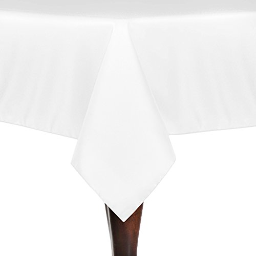 Ultimate Textile 90 x 90-Inch Square Polyester Linen Tablecloth - Polyester Inch Tablecloth Square 90