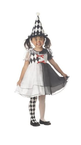 [Toddler and Girls Little Harlequin Clown Costume - Child Small] (Childs Clown Costumes)
