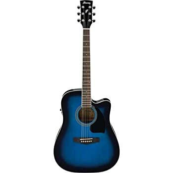 Ibanez Performance Series PF15 Cutaway Acoustic-Electric Guitar Blue
