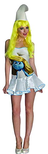Secret Wishes  Smurfs Sexy Smurfette Costume Dress, Multi, Small]()