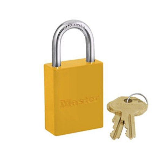 Master Lock Safety - Master Lock 6835YLW Safety Series Padlock, Aluminum Body, 2-Inch, Yellow