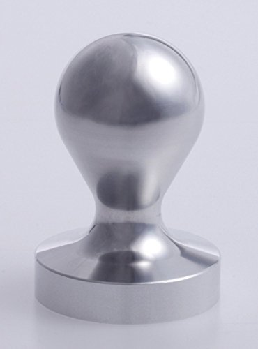 Espresso tamper 58mm for that was cut out from the coffee workshop Nana steel round bar (japan import) by Coffee workshop Nana