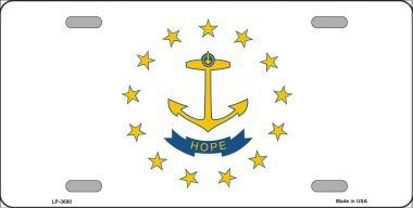 State Island Rhode License Plate (Rhode Island State Flag Vanity Metal Novelty License Plate Tag Sign)
