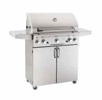 Fire Magic 30NC American Outdoor Grill Portable Natural Gas Stainless Steel Grill with 540 Square In. Cooking Area and Backburner Fire Magic