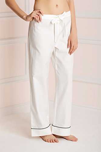 Olivia Von Halle Women Coco Cotton Pyjama White
