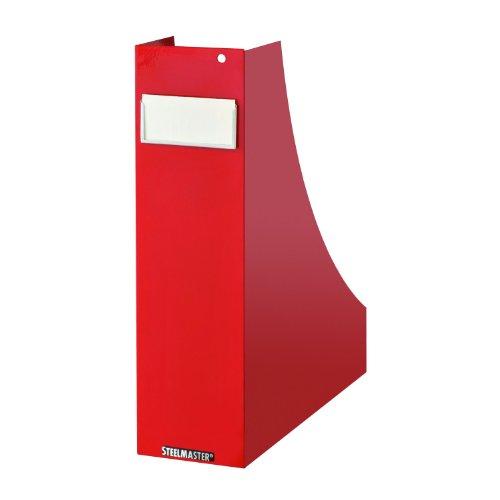 Steelmaster Magazine Bin, 10.25 x 4.5 x 13.25 Inches, Red...