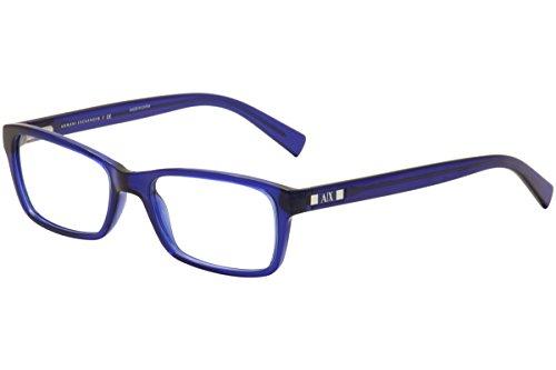 Armani Exchange AX3007 Eyeglass Frames 8018-53 - Marine Transparent - Armani Frames