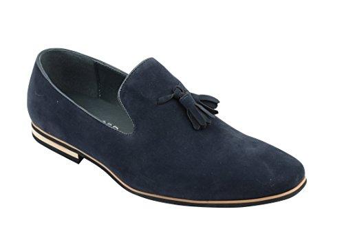 Con Zapatillas De Gamuza Borla Blu Diseño blu Piel Para Hombre Sintética PAXx4Aw