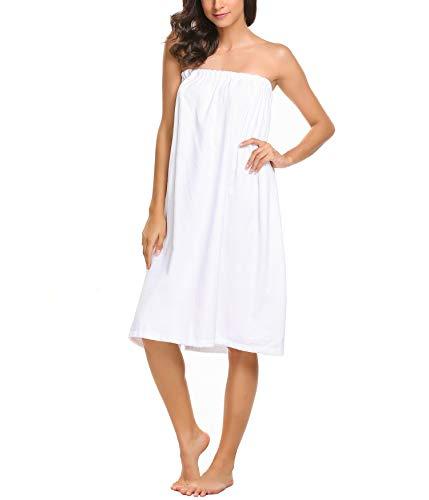 YOZLY Womens Shower Spa Wrap Terry Cotton Bath Towel(Pink, Blue, White)