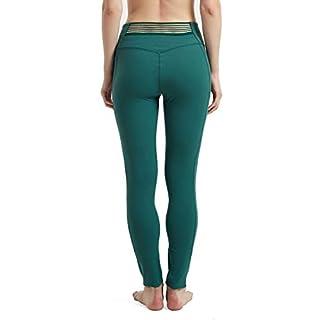 Rataves High Waist Yoga Pants with Pockets Yoga Capris for Women Tummy Control Workout Leggings Ultra Soft Lightweight L Dark Green