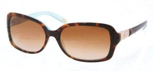 Ralph by Ralph Lauren Women's 0RA5130 601/1358 Rectangle Sunglasses,Tortoise/Turquoise Inside Frame/Brown Gradient Lens,one - Lauren Ralph Shades