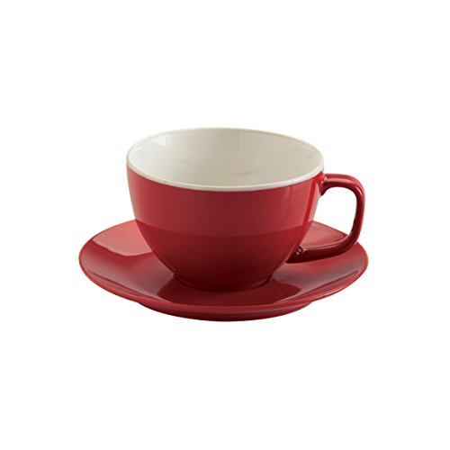 Price & Kensington Brights Red Large Cup and Saucer
