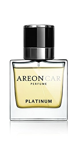 [해외]Areon 자동차 향수 1.7 층 오즈. /Areon Car Perfume 1.7 Fl Oz. (50ml) Glass Bottle Air Freshener, Platinum