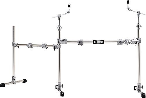 Pacific Drums by DW Chrome Over Steel Main and Side Combo Rack [並行輸入品] B07BS1RYMX