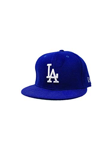 (New Era Los Angeles Dodgers 59FIFTY MLB Fitted Cap Baseball Hat (7 3/8, Blue/White Wool))