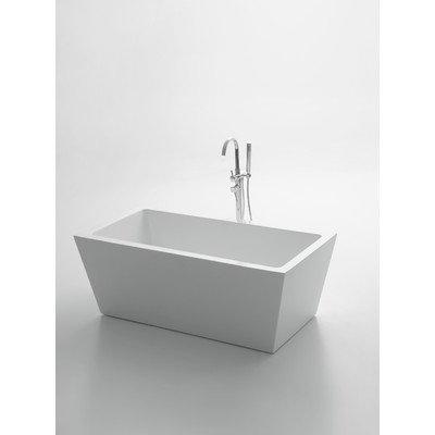 Eviva EVTB1010-63WH Natalia 63'' Free-Standing Acrylic Bathtub Freestanding, White by Eviva