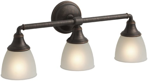 KOHLER K-10572-2BZ Devonshire Triple Wall Sconce, Oil-Rubbed Bronze ()