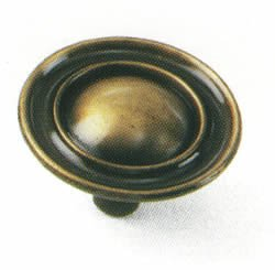 Laurey 75905 1 1/2-Inch Classic Traditions Ambassador Knob, Antique Brass