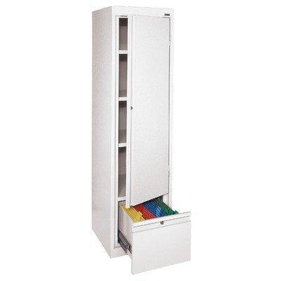 Sandusky System Series Single - Sandusky Lee HADF171864-22 System Series Single Door Storage with File Drawer, White